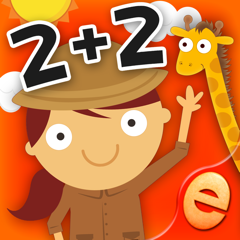 Animal Math Games for Kids in Pre-K, Kindergarten and 1st Grade Learning Numbers, Counting, Addition and Subtraction Premium