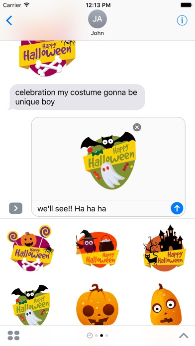 Screenshot #6 for Halloween Stickers - Animated iMessage Stickers