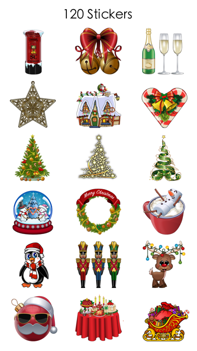 Xmas and New Year Stickers screenshot two