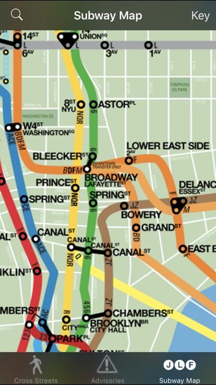 CrossWalk NYC: cross-street finder & subway map