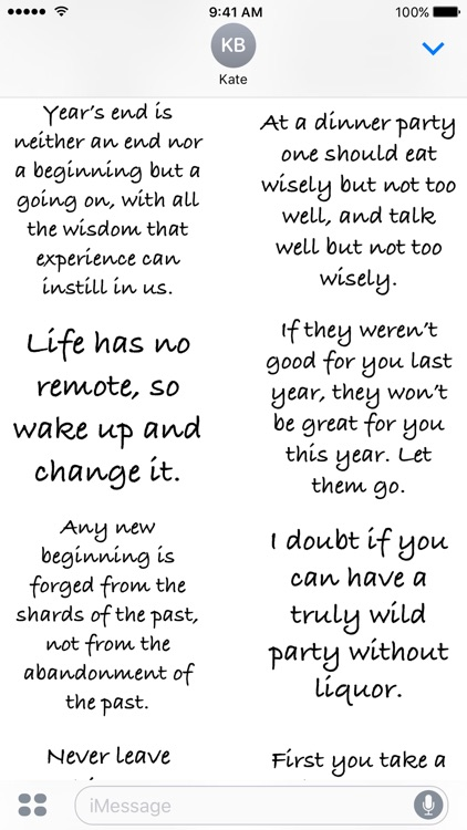 new year quotes a to z stickers