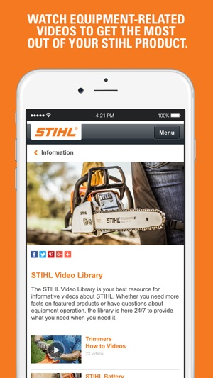 Stihl on the app store publicscrutiny Images