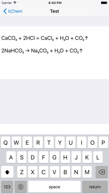 kChem - Chemistry Keyboard screenshot-0