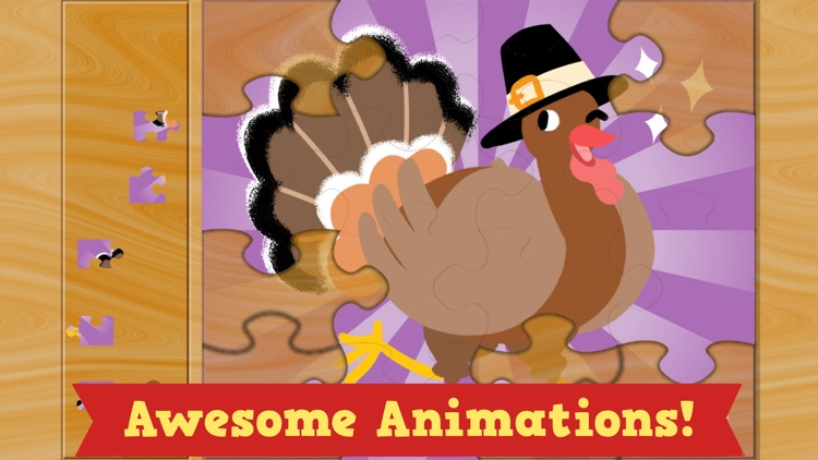 Thanksgiving Puzzles - Fall Holiday Games for Kids