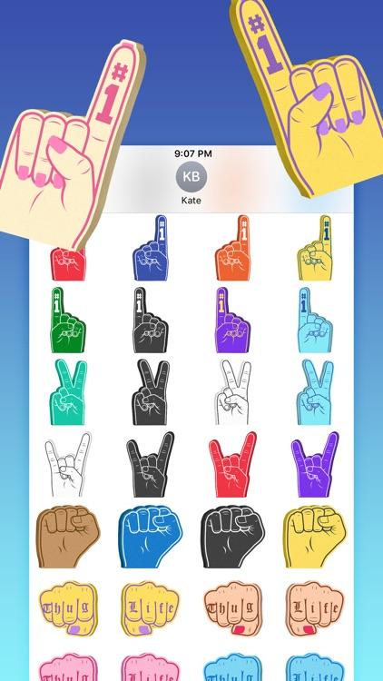 Super Cool: Foam Hands Emoji Sticker Pack screenshot-3
