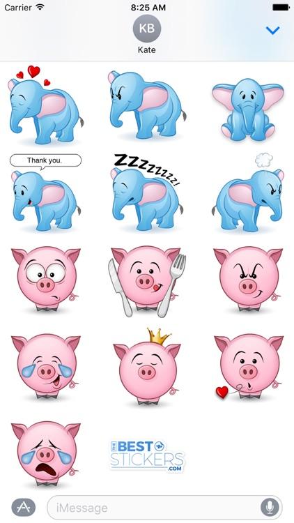 Cute Animals Sticker Pack