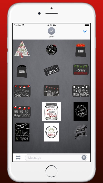 Imprint Holiday Stickers - Modern Christmas screenshot-4