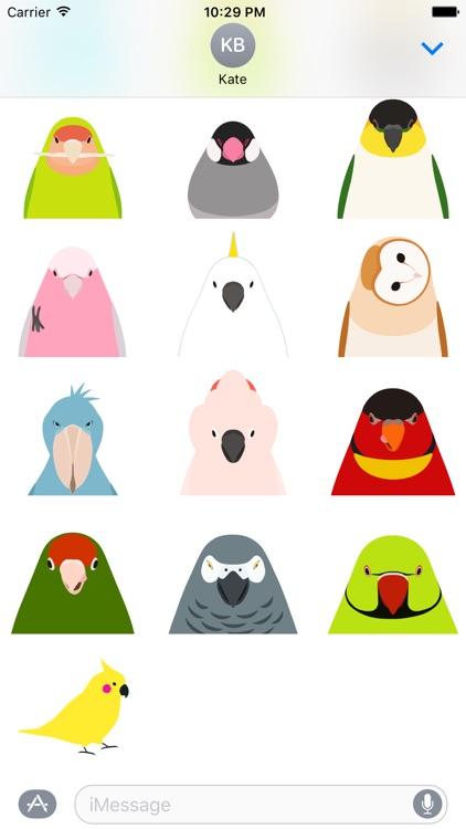 Animated Bird Stickers - Tori no iro