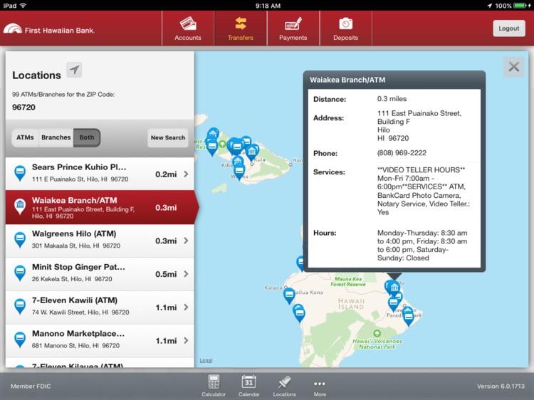 First Hawaiian Bank Mobile for iPad screenshot-4