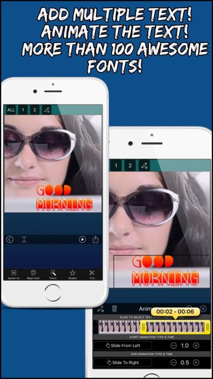 Video Editor Pro: Merger, Text screenshot-3