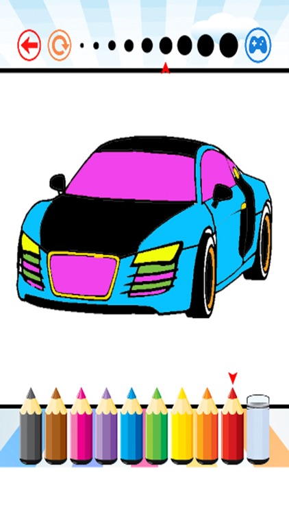 luxury Car Coloring Book - Activities for Kids screenshot-1