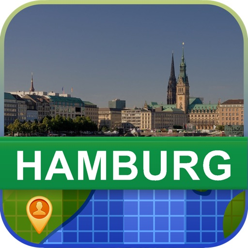Offline Hamburg, Germany Map - World Offline Maps