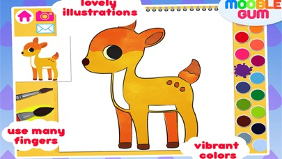 animal coloring book & Art Studio - painting app for children  - learn how to paint cute jungle animalsのおすすめ画像4