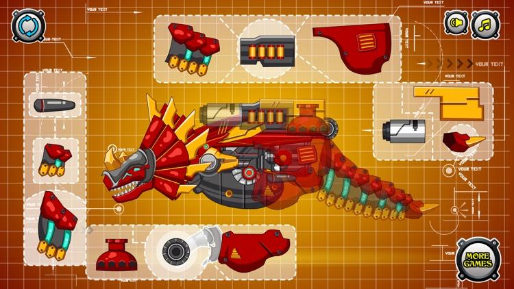 Steel Dino Toy : Triceratops screenshot-3