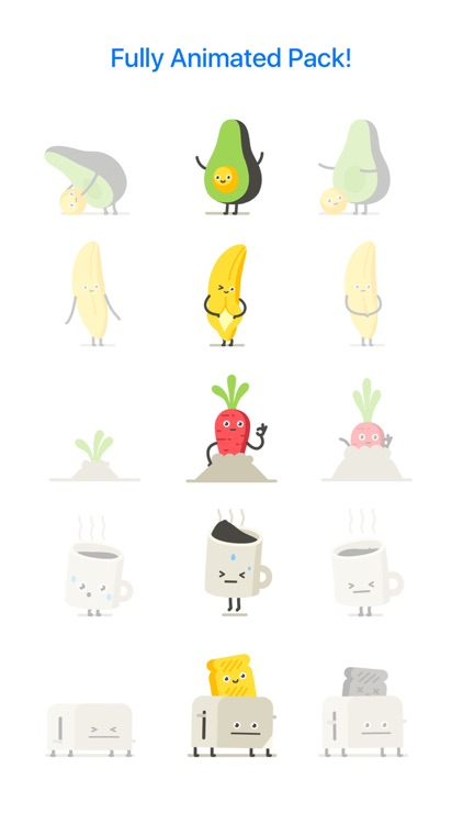 Moody Foodies – Animated Stickers screenshot-1