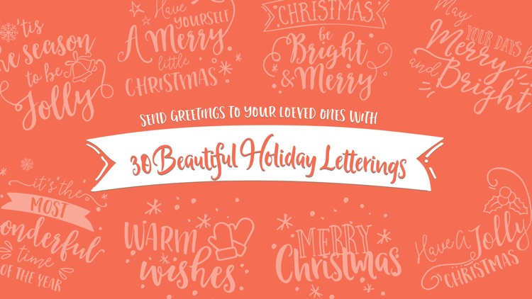 Merry Christmas Lettering Stickers screenshot-0