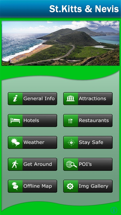 St.Kitts and Nevis Offline Map Travel Guide