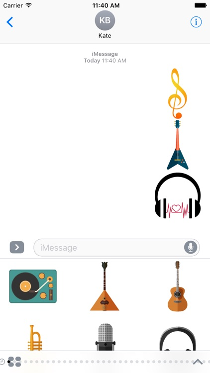 Music Stickers For iMessage