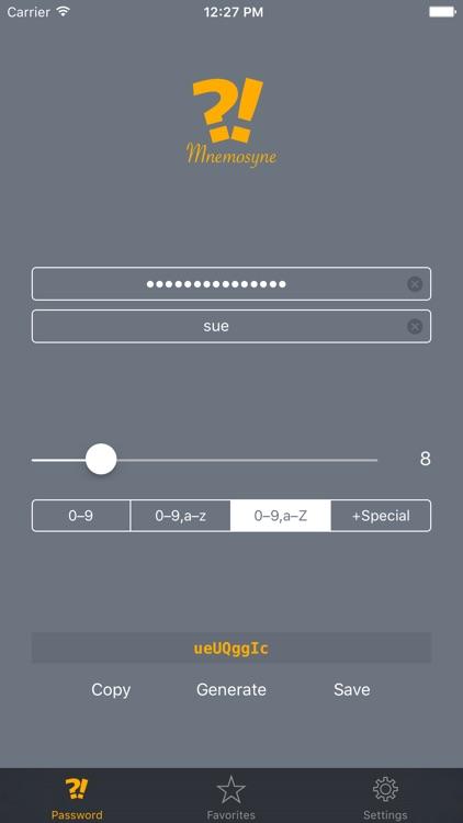 Mnemosyne: Password Generator & Manager