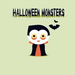 Halloween Stickers - Funny Halloween Monsters