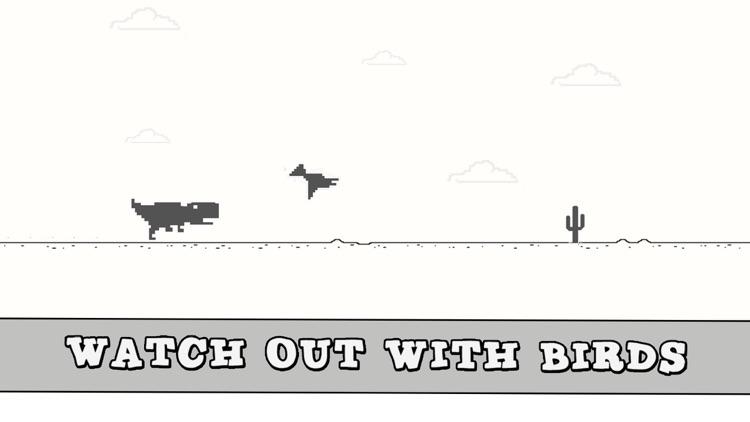 Dinosaur Widget Jumping Steve: 8bit Game screenshot-3