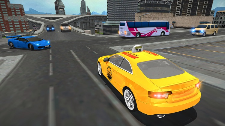 Modern City Cab Simulator 2016 screenshot-3
