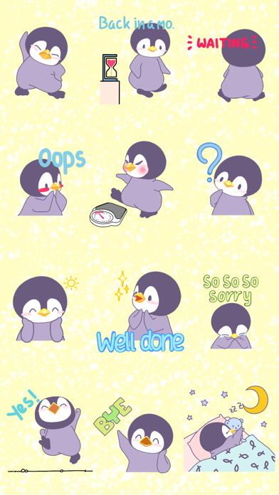 Penguin Bo Animated Bird Stickers for Text Message screenshot three