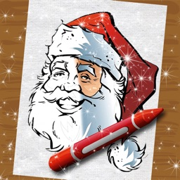 Paint Christmas Sketch in Idyllic Color.ing Book