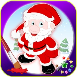 A christmas coloring book! decorate tree & lights paint maker
