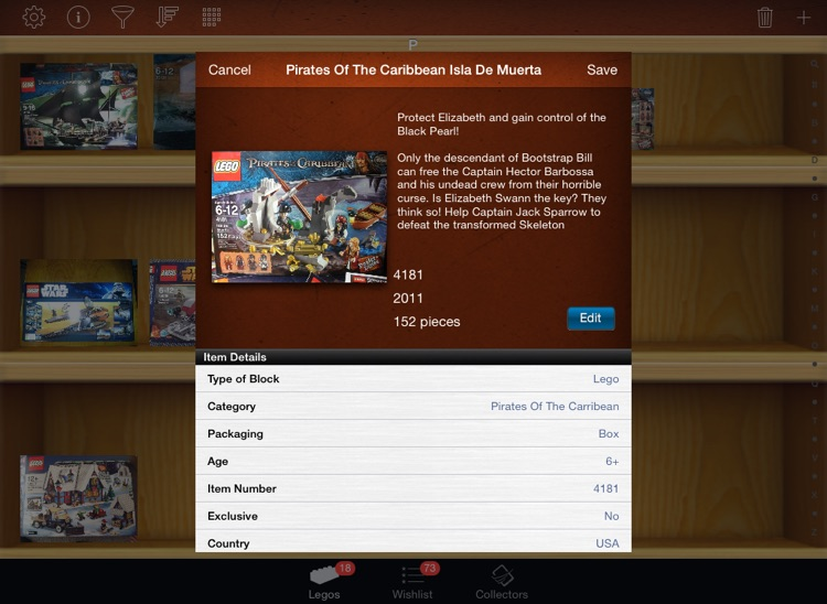 LEGO Collectors for iPad