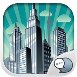 City Town Emoji Stickers Keyboard Themes ChatStick