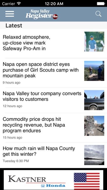 Napa Valley Register, CA