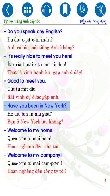 Tự học Tiếng Anh cấp tốc - Common Sentences screenshot-4