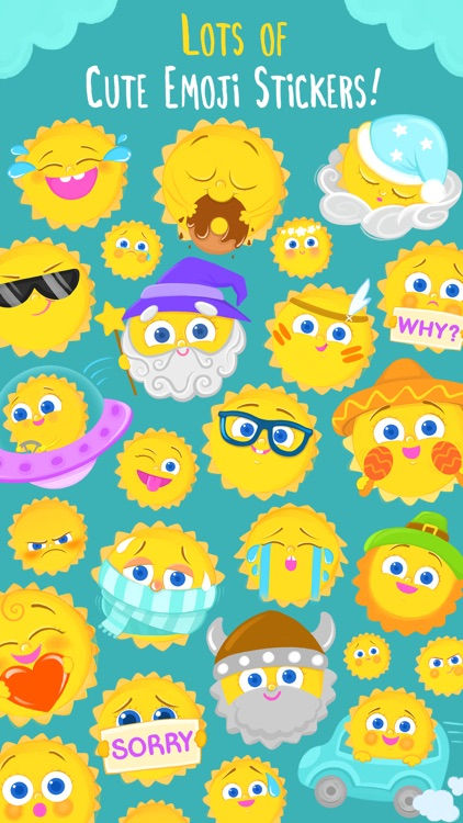 Good Morning Sunshine Rise, Shine, Emoji Stickers