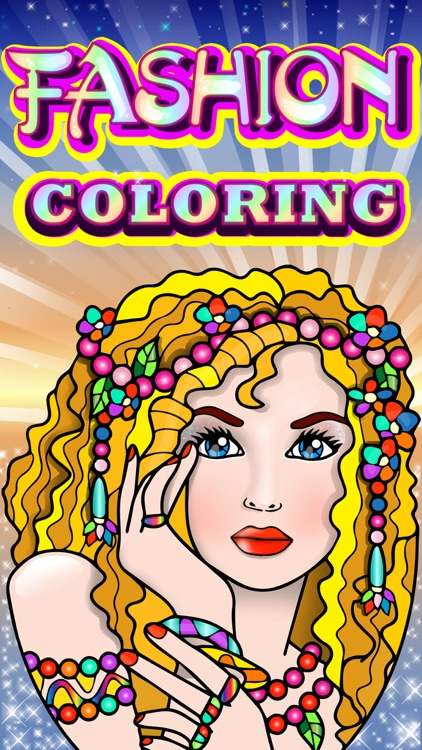 Fashion Coloring Books for Adults with Girls Games