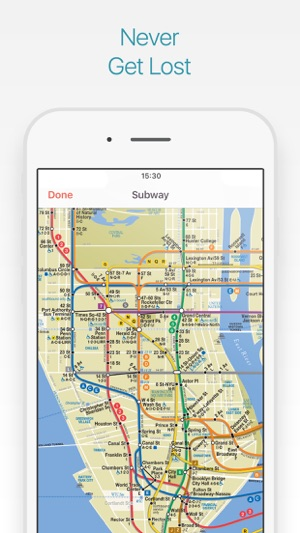 Bajar Subway Map De Ny.New York Travel Guide And Offline City Map On The App Store