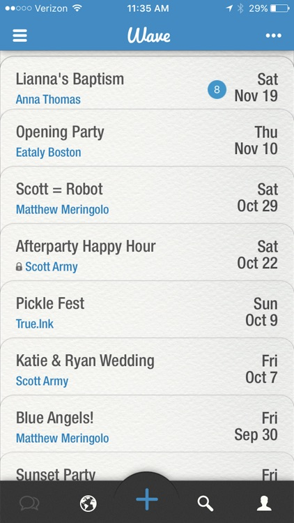 Wave - The Social Network For Events screenshot-4