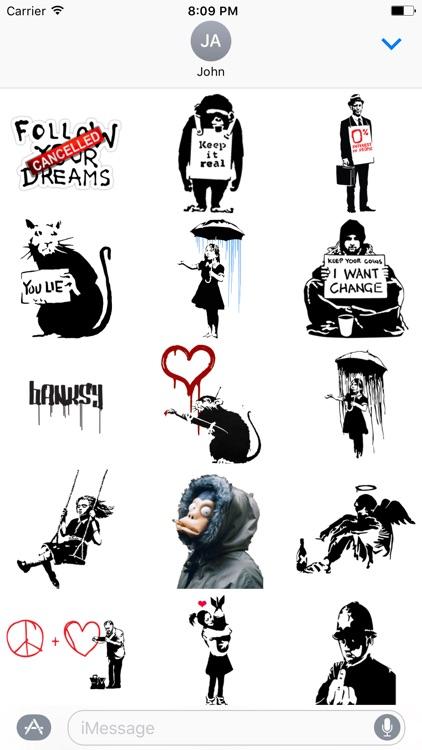 Banksy Sticker Art