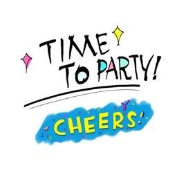 Let's Party Comic Text