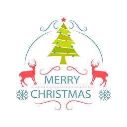 Merry Christmas label pack - Fx Sticker