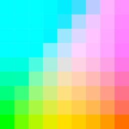 Color Palette and monochrome screen wallpaper