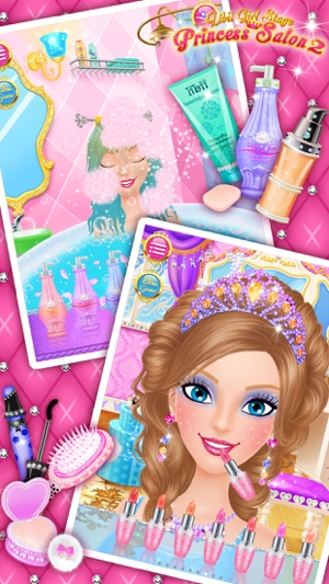 Princess salon 2 makeup dressup spa and makeover girls princess salon 2 makeup dressup spa and makeover girls beauty salon games on the app store solutioingenieria Choice Image