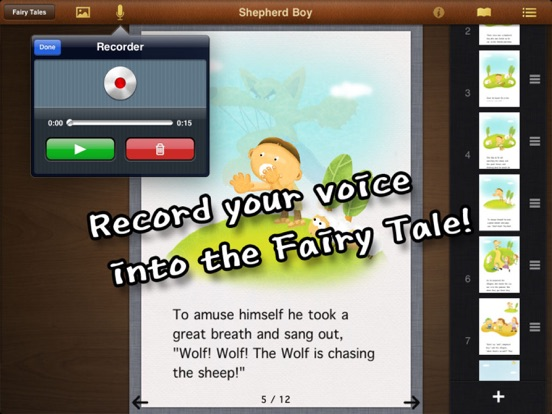 Fairy Tale – A fun children's story production App where I become the author to make the story screenshot