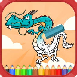 Dragons coloring books for kids