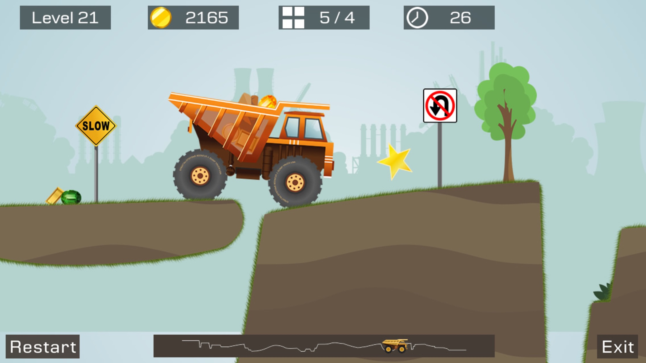 Screenshot do app Big Truck -Mine Express Racing
