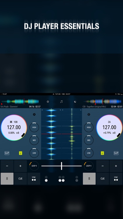 DJ Player EM - essentials for mixing music