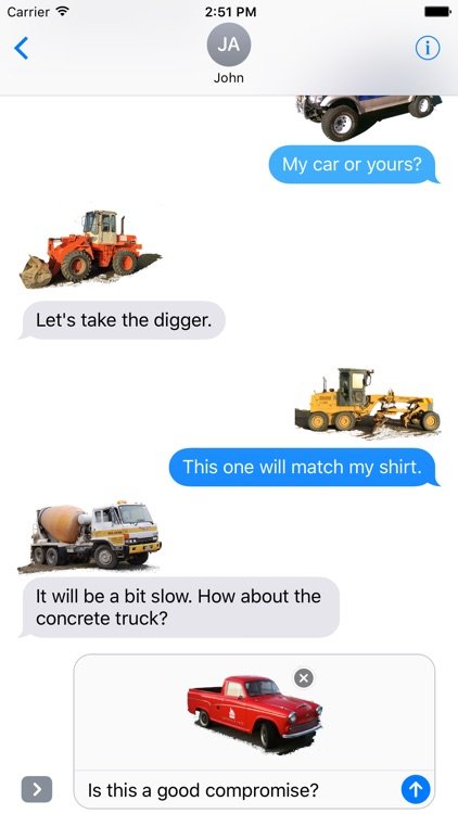 Car Truck Digger Stickers screenshot-1