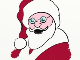 Christmas Stickers with Santa