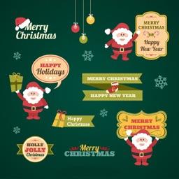 Holly Christmas Sticker