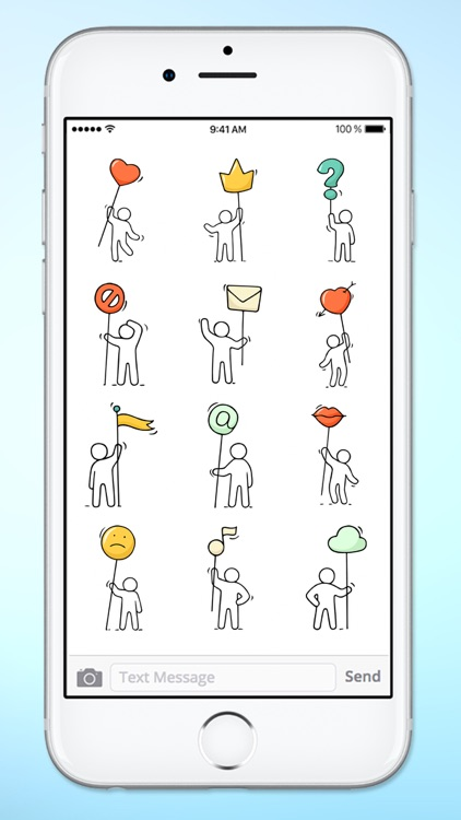 Stick Figure Emoji Icon Sticker Pack screenshot-3